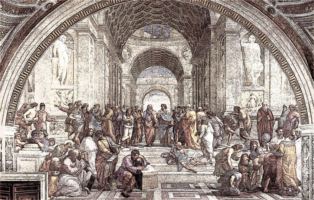 Scuola di Atene a painting of Raphael