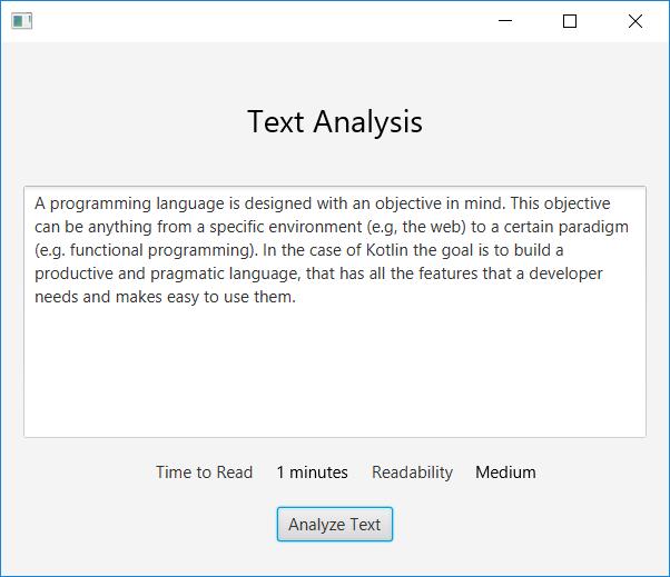 TextAnalysis GUI